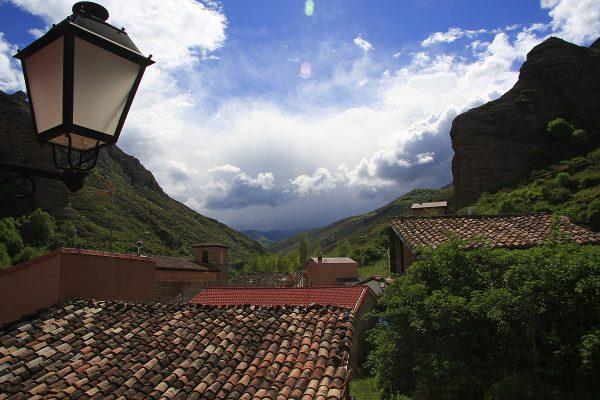 Vista hacia el valle del río Tobía