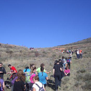 Últimos metros de ascensión para llegar al cerro Villaverde.