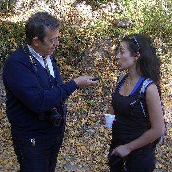 El periodista Pablo José Pérez, del diario La Rioja, tomó buena nota de todo lo acontecido.