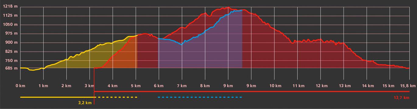 Perfil ruta: Majada de Manzanar
