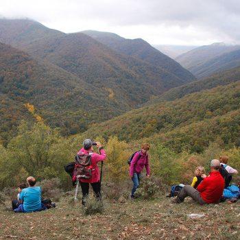 Hermosas vistas del valle del río Tobía.