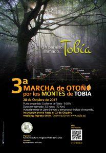 Cartel 3ª Marcha de Otoño por los Montes de Tobía. 2017