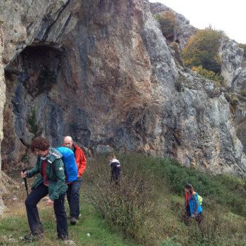 """""""Cueva Llanos"""", el punto más elevado de la ruta."""