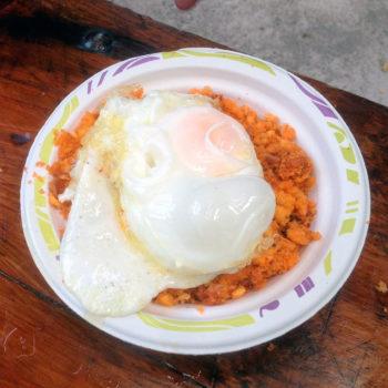 ¡Pero qué ricas y apetitosas estaban las migas con huevo!
