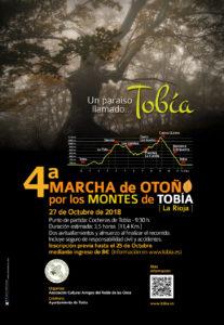 Cartel 4ª Marcha de Otoño por los Montes de Tobía. 2018